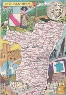 D648 CARTE DU BAS RHIN 67 - Maps