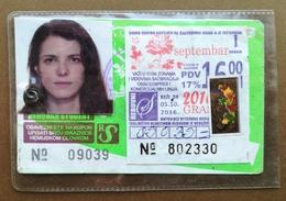 BOSNIA AND HERZEGOVINA Female Annual Public Transport Ticket For University Student - Season Ticket