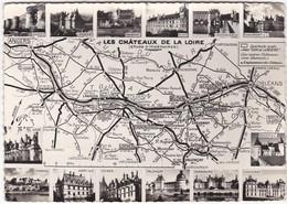 D649 CARTE DE LOCALISATION DES 14 CHATEAUX DE LA LOIRE AVEC LEUR PHOTO - Maps