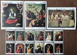 # Sierra Leone 1992 **Mi.1794-1805, Bl.192,193,194  Painting-Francisco Zurbaran , MNH [22;58] - Altri