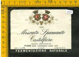 Etichetta Vino Liquore Spumante Moscato Castelfiore Fiore Asti - Etichette