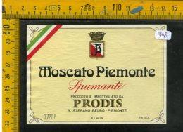 Etichetta Vino Liquore Spumante Moscato Prodis S. Stefano Belbo - Etichette