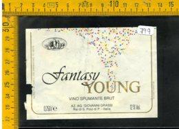 Etichetta Vino Liquore Spumante Brut Fantasy San Polo P. - Etiquetas