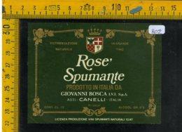 Etichetta Vino Liquore Spumante Rosè G. Bosca Canelli Asti - Etiquetas