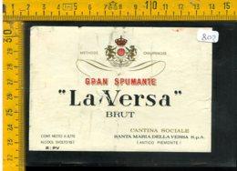Etichetta Vino Liquore Spumante La Versa Brut S. Maria Della Versa - Etichette