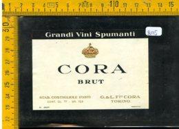 Etichetta Vino Liquore Spumante Brut Cora Castiglione D'Asti - Etichette