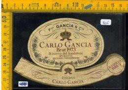 Etichetta Vino Liquore Spumante Gancia Brut 1973 Canelli - Etichette