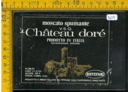 Etichetta Vino Liquore Spumante Moscato Chateau Dorè Castagnole Lanze Asti - Etichette