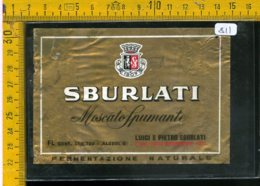 Etichetta Vino Liquore Spumante Moscato Sburlati Nizza Monferrato Asti - Etichette