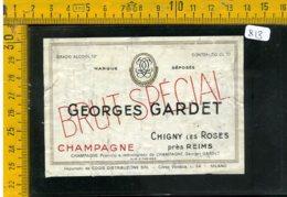 Etichetta Vino Liquore Champagne Georges Gardet - Etichette