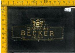 Etichetta Vino Liquore Champagne Becker Reims - Etichette