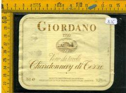 Etichetta Vino Liquore Chardonnay Di Tezze Giordano 1990 Valle Talloria - Etichette