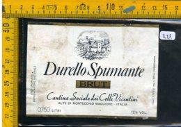 Etichetta Vino Liquore Spumante Durello Brut Montecchio Maggiore - Etichette
