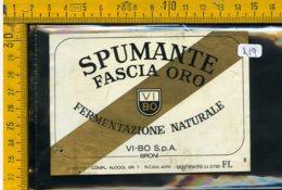Etichetta Vino Liquore Spumante Fascia Oro Vi-Bo Broni - Etichette