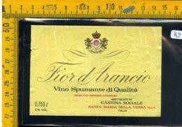 Etichetta Vino Liquore Spumante Fior D'Arancio S. Maria Dellla Versa - Etichette