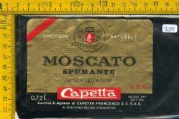 Etichetta Vino Liquore Spumante Moscato Capetta S. Stefano Belbo - Etichette