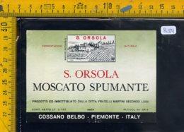 Etichetta Vino Liquore Spumante Moscato S. Orsola Cossano Belbo - Etichette