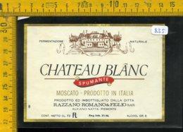 Etichetta Vino Liquore Spumante Moscato Chateau Blanc Alfiano Natta - Etichette