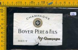 Etichetta Vino Liquore Champagne Boyer Père & Fils Brut - Etichette