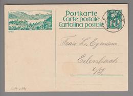 Schweiz GS Bildpostkarte Zu# 107.044 übereinstimmend Spiez 1928-05-23 - Entiers Postaux