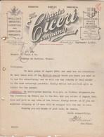 CANADA Lettre Facture Illustrée 3/9/1914 Charles CICERI Importers Fruits Wines Liquors  TORONTO - Canada