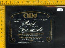 Etichetta Vino Liquore Spumante Brut Gi. Bo. Canelli Asti - Etichette