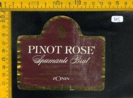 Etichetta Vino Liquore Spumante Pinot Rose Zonin Gambellara VI - Etichette
