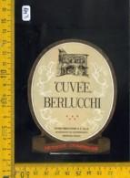 Etichetta Vino Liquore Cuvèe Berlucchi Borgonato Di Cortefranca Brescia - Etichette