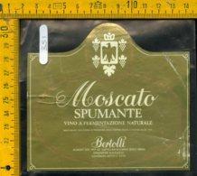 Etichetta Vino Liquore Spumante Moscato Bertolli  Siena - Etichette