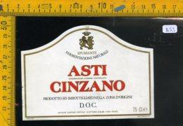Etichetta Vino Liquore Spumante Asti Cinzano DOC S. Vittoria D'Alba - Etichette