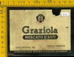 Etichetta Vino Liquore Spumante Moscato D'Asti Graziola Canelli - Etichette