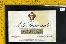 Etichetta Vino Liquore Spumante Asti Martini Torino - Etichette