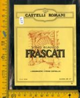 Etichetta Vino Liquore Castelli Romani Frascati - Etichette
