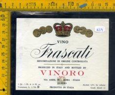 Etichetta Vino Liquore Frascati Vinoro Roma - Etichette