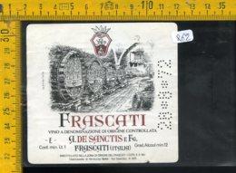 Etichetta Vino Liquore Frascati De Sanctis 1972 - Etichette
