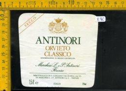 Etichetta Vino Liquore Orvieto Antinori Firenze - Etichette