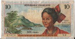 C12) Bille 10 Francs Antilles ( Guadeloupe Martinique) Guyane - France