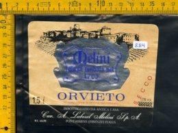 Etichetta Vino Liquore Orvieto Melini Pontassieve FI - Etichette