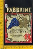 Etichetta Vino Liquore Aleatico Fabbrini Isola D'Elba - Etichette