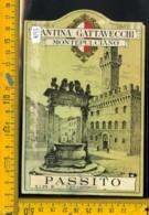 Etichetta Vino Liquore Passito Gattavecchi Montepulciano - Etichette