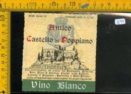 Etichetta Vino Liquore Bianco Castello Di Poppiano Barberino D'Elsa FI - Etichette