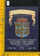 Etichetta Vino Liquore Brunello Di Montalcino Fattoria Dei Barbi - Etichette