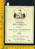 Etichetta Vino Liquore Colli Del Trasimeno 1980 Pucciarella Magione - Etichette