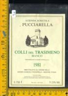 Etichetta Vino Liquore Colli Del Trasimeno 1981 Pucciarella Magione - Etichette