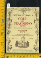 Etichetta Vino Liquore Colli Del TrasimenoRosso 1975  Magione Perugia - Etiquettes