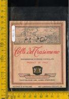 Etichetta Vino Liquore Colli Del Trasimeno Castiglione Del Lago Perugia - Etiquettes