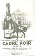 Buvard CADRE NOIR Appelation Saumur Mousseux Contrôlée CADRE NOIR Saumur - Softdrinks
