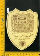 Etichetta Vino Liquore Casa D'Ambra Porto D'Ischia Napoli - Etichette