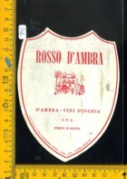 Etichetta Vino Liquore Rosso D'Ambra Porto D'Ischia - Etichette