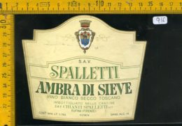 Etichetta Vino Liquore Ambra Di Sieve Spalletti Ruffina Firenze - Etiquettes